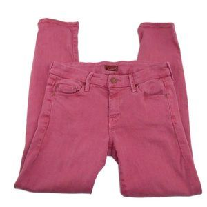 MOTHER Jeans The Looker Crop Jean 26 Pink Red